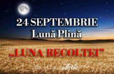 Predicții Lună Plină – 24 Septembrie- Luna Recoltei – ajutor pentru zodii