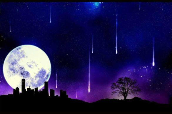 solstitiu iarna decembrie2018 lunaplina ploaiedestele 585x390 - Nu rata evenimentul astral deosebit din această noapte!-  Lună Plină și Ploaie de Stele la Solstițiul de Iarnă