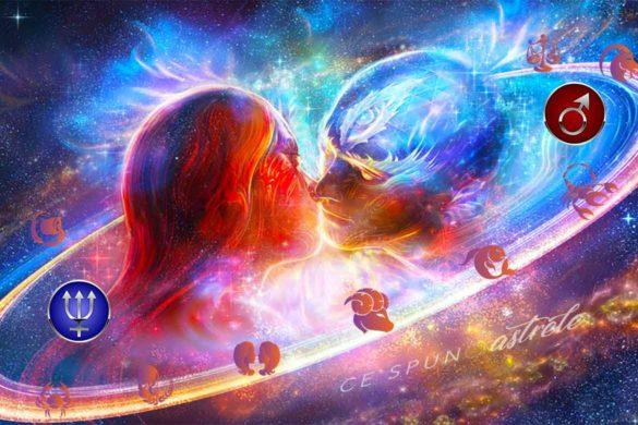 marte neptun planete atractie pasiune zodii 585x390 - Marte și Neptun - planetele seducției, atracției și pasiunilor mistuitoare  - în relația cu Zodiile