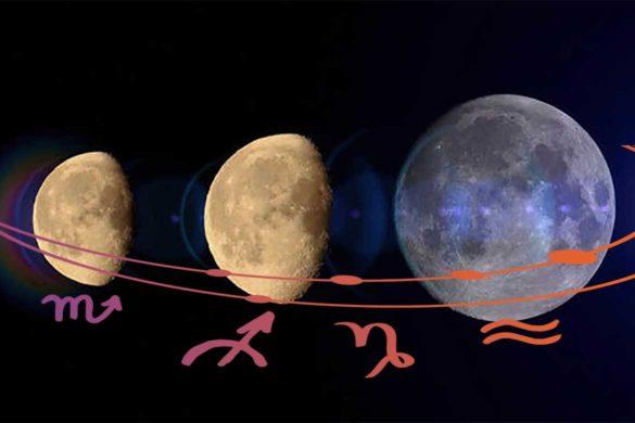 luna noua luna plina iunie 585x390 - ASTROLOGIE IUNIE: Luna noua în Gemeni și Luna plină în Sagetator - SCHIMBĂRI BENEFICE ÎN PERSPECTIVĂ