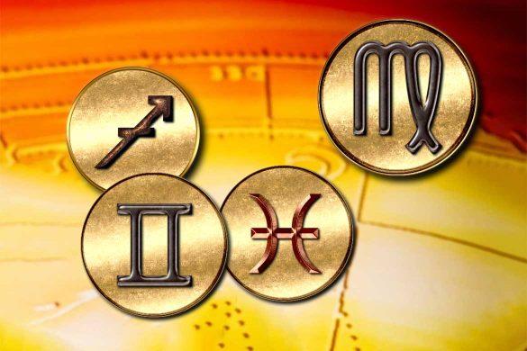 zodiile mutabile 585x390 - Zodiile mutabile Gemeni, Fecioară, Pești și Săgetător - Cele mai puternice semne din punct de vedere emoțional!