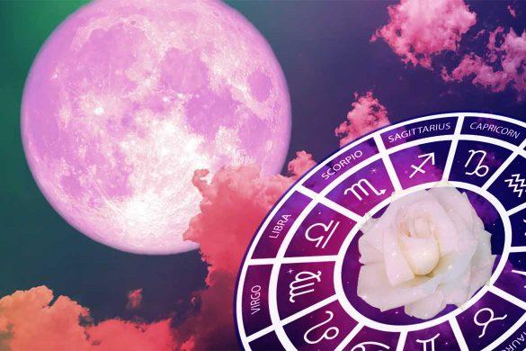 horoscop special luna plina roz 585x390 - HOROSCOP SPECIAL: Lună Plină Aprilie 2021 în Scorpion - Realizări neașteptate!