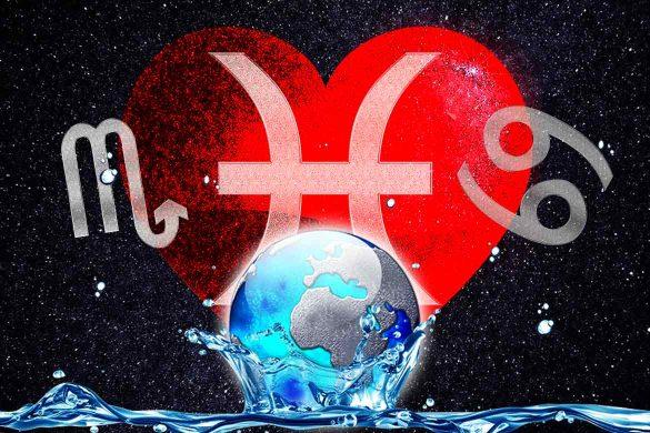 zodii apa sentimental 585x390 - Zodiile de Apă RAC, SCORPION și PEȘTI - Sentimente și emoții trăite la intensitate maximă!