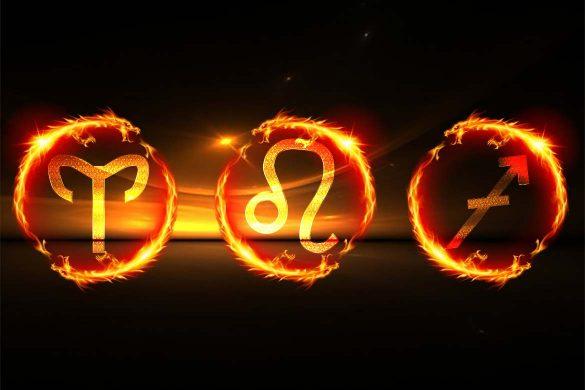 zodii de foc 585x390 - Zodiile de Foc: BERBEC, LEU și SĂGETĂTOR -  Caracterizare completă din perspectivă astrologică